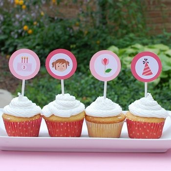 olliegraphic cupcake topper kit :: girl: Julie Baby, Morgan Birthday, For Kids, Birthday Parties, Cupcakes Toppers, Baby Adriana, Ava Birthday, Cupcake Toppers, Baby Shower