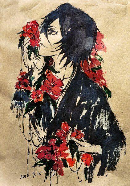 Kuchiki Rukia - such a beautiful painting! XD