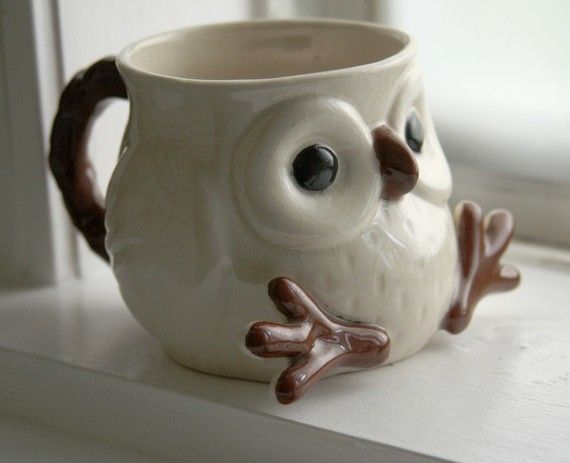 """""""owl coffee cup #motivation #CoffeeMillionaires. . """"  >> Oh Gracie!!  How Cute is This?!!"""