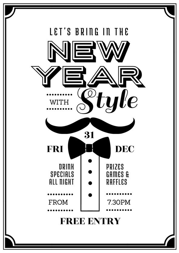 25 best New Years Eve DIY Graphic Design Templates images on ...