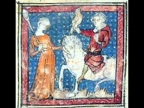 """Je chevauchoie l'autrier"" by Moniot de Paris (fl. aft. 1250) as performed by Anne Azéma and the Camerata Mediterranea. Moniot de Paris is thought to be the Monniot who wrote the ""Dit de fortune"" in 1278. As a trouvère he left 9 pieces: 3 'pastourelles', 1 'chanson de rencontre', 1 'chanson de la malmariée', and 4 enigmatic 'rotrouenges' that are not of the 'grand chant' variety. His work blurs the traditional boundaries between genres and represents a ""low"" style or ""less refined lyricism""."