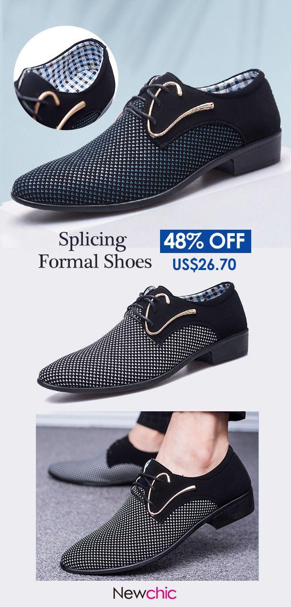 Men Stylish Leather Splicing Non Slip