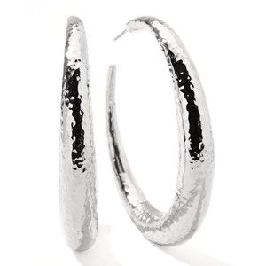 Ippolita Glamazon Silver #4 Puffy Hoop Earrings - Silver