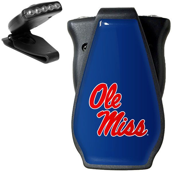 Ole Miss Rebels Hat Clip LED Flashlight - Black