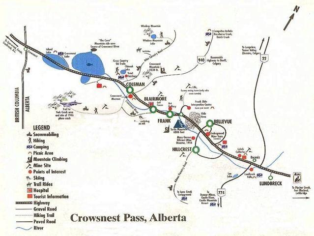 Hillcrest Mine and Lundbreck Falls - Crowsnest Pass, Alberta, Canada