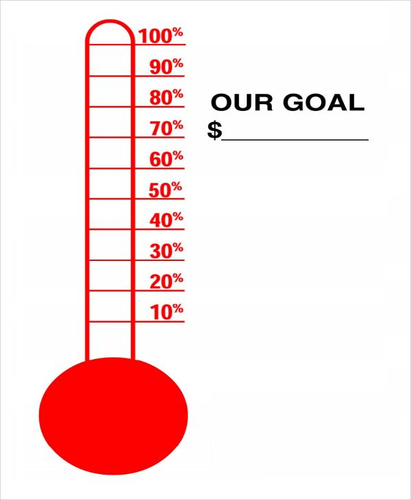 Fundraiser Thermometer Templates Goal Thermometer Templates