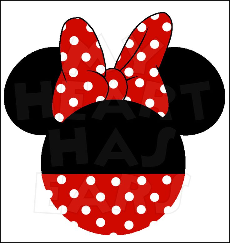Mouse Ears Silhouette Clip