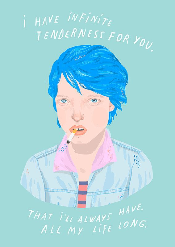 blue is the warmest color - mini glossy print (5x7'')