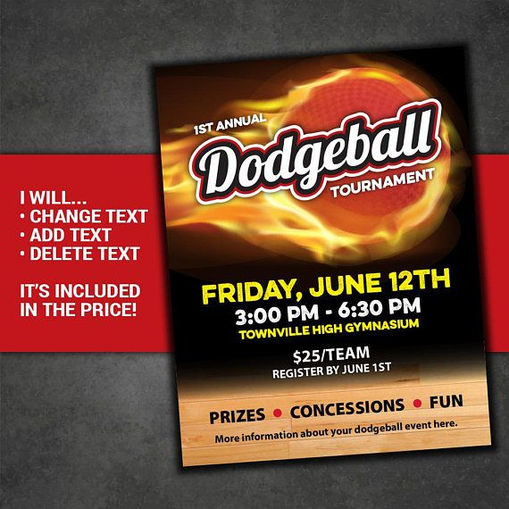 DODGEBALL tournament flyer dodge ball poster dodgeball competition dodge ball event invite printable poster custom invitation postcard