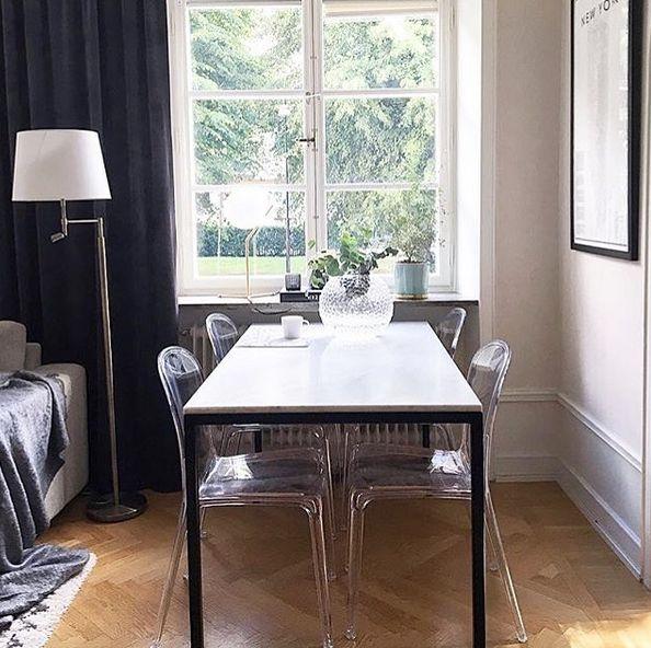 Transparent plaststol Labradoren. Köksstol, stol, kök, vardagsrum, hall, möbler, inredning, polykarbonat, stolar, transparenta. http://sweef.se/stolar/57-labradoren-stol-i-polykarbonat.html