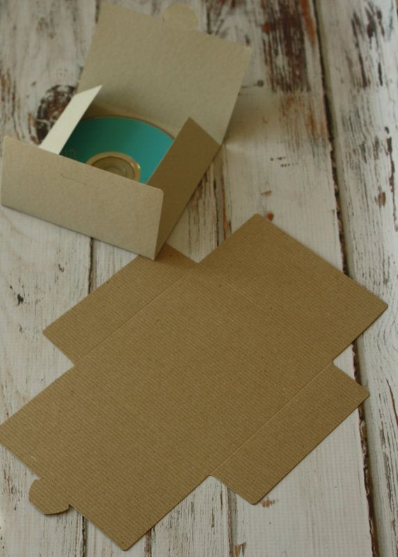 Plain KRAFT eco friendly diy NO Glue CD sleeve by rikyandnina
