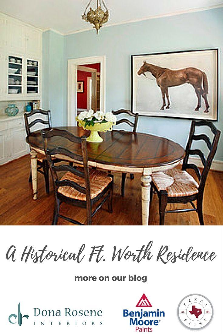 Traditional Dining Room By Dona Rosene Interiors Wall Paint Palladian Blue Benjamin Moore