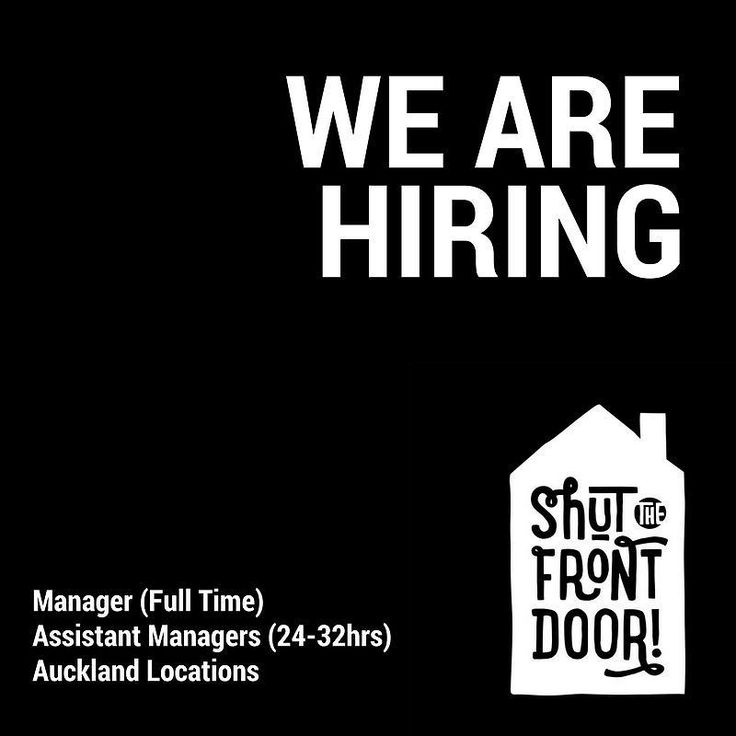 Looking for a change? Like to work with fun and exciting products with great staff discounts then send your CV to sarah@shutthefrontdoor.co.nz