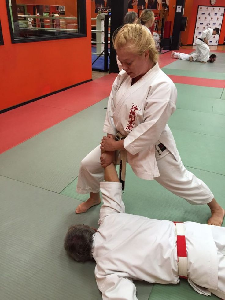 This month I am demonstrating self-defence against an across-line wrist grab, step 8.