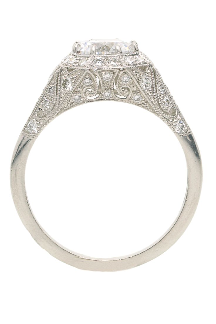 pave ring cut white princess gold french product engagement rose style puregemsjewels rings