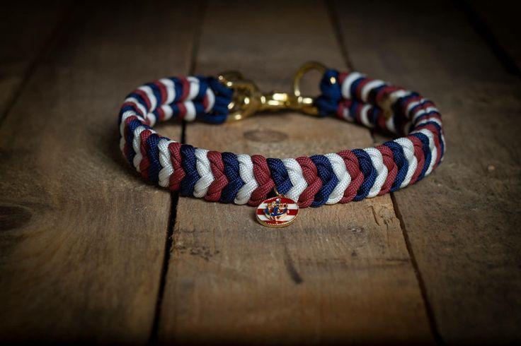 Hund: Halsbänder - Paracord Hundehalsband Ankerliebe - ein Designerstück von Hanseschnute bei DaWanda