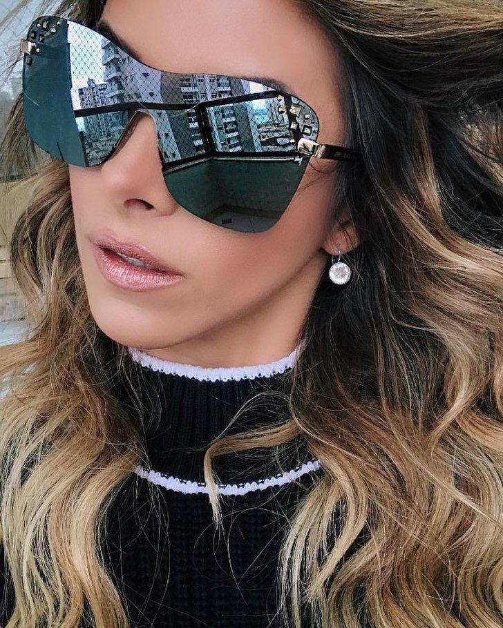 f10e6a41e Jimmy Choo Mask SRF/U4 - Óculos de Sol in 2019   cool shades   Óculos  escuros, Miu miu, Óculos