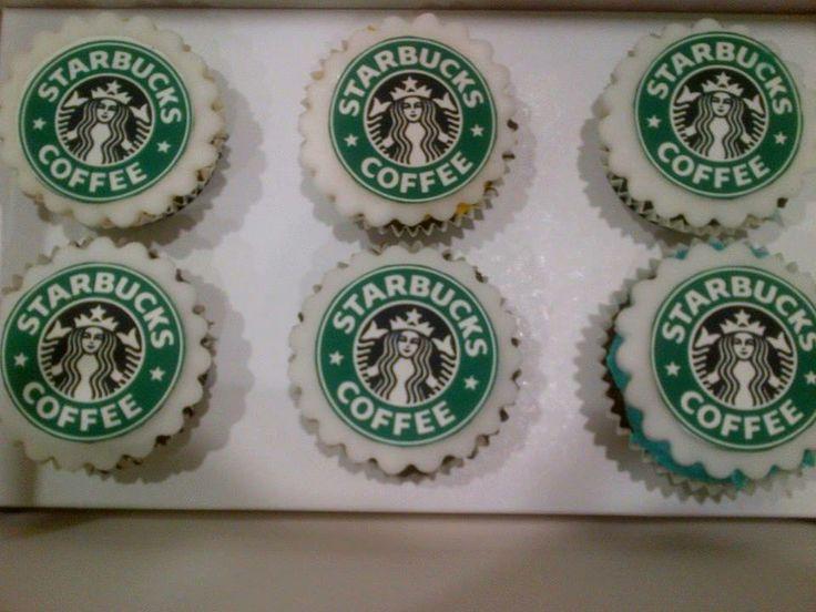 Personalized edible Starbucks cupcakes