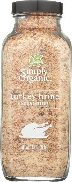 Simply Organic Turkey Brine Seasoning - Case Of 6 - 14.1 Oz.