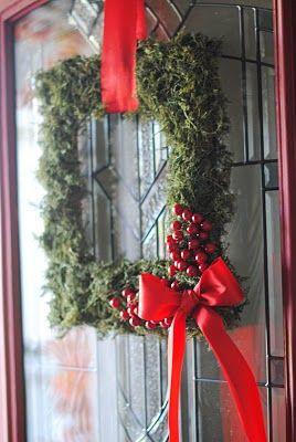 Christmas wreath from a frame
