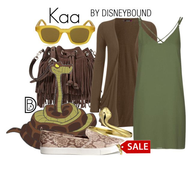 """""""Kaa"""" by leslieakay ❤ liked on Polyvore featuring Rebecca Minkoff, WearAll, Topshop, Bling Jewelry, H&M, CÉLINE, disney, disneybound and disneycharacter"""