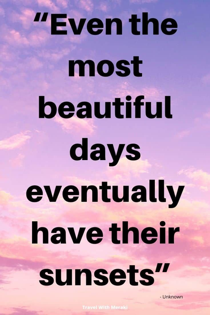 Quotes About Sunset Travel With Meraki Sunset Quotes Sunset Captions For Instagram Funny Romantic Quotes