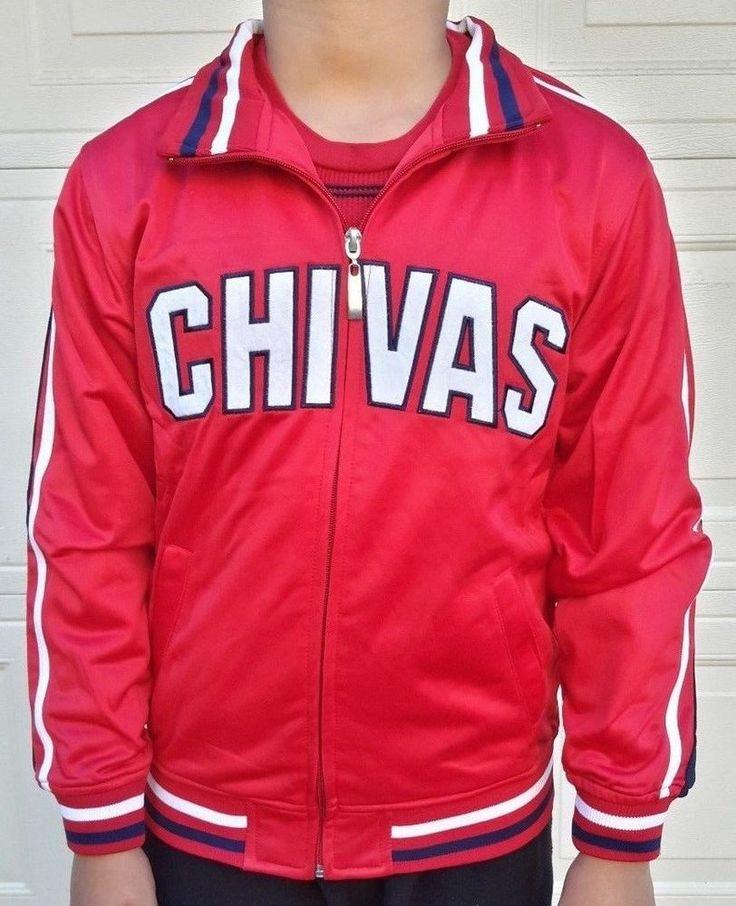 "Chivas De Guadalajara Youth Red Soccer Full Zipper Track Jacket NWT ""Unbranded"" #Unbranded #ChivasDeGuadalajara"
