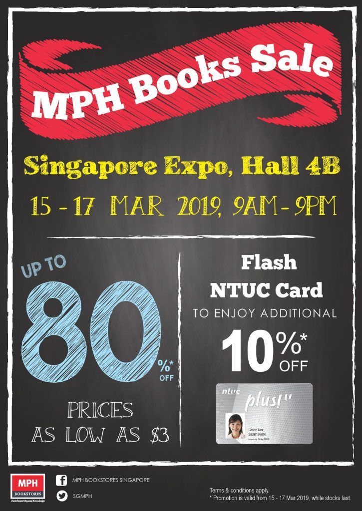 Mph Bookstores Singapore Books Sale Up To 80 Off Promotion 15 17 Mar 2019 Book Sale Bookstore Books
