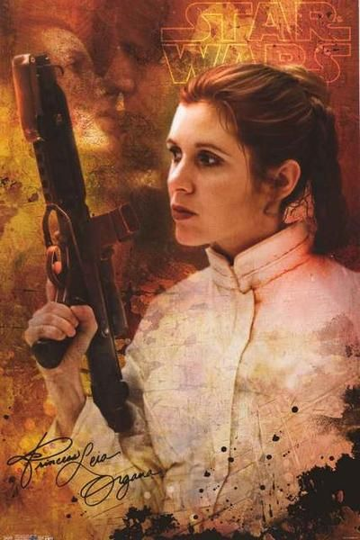 A beautiful poster of the ever-amazing Princess Leia Organa from the Star Wars movies! Long live Carrie Fisher. Fully licensed. Ships fast. 22x34 inches. Be a good Jedi and check out the rest of our a
