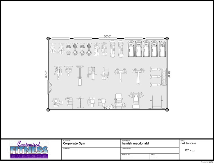 Small gym floor plan with dims Favorite Places Spaces