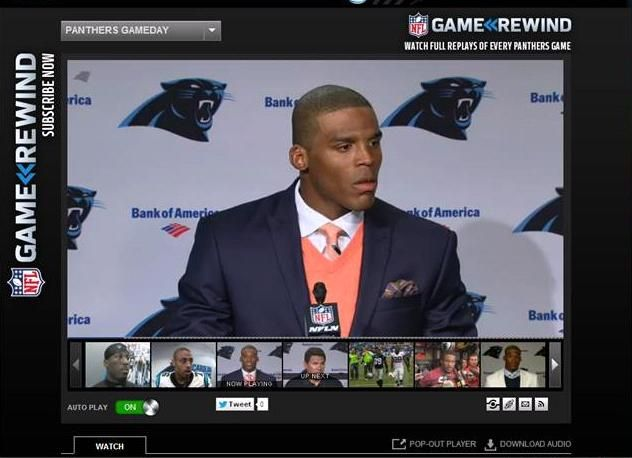 Cam Newton press conference week 3