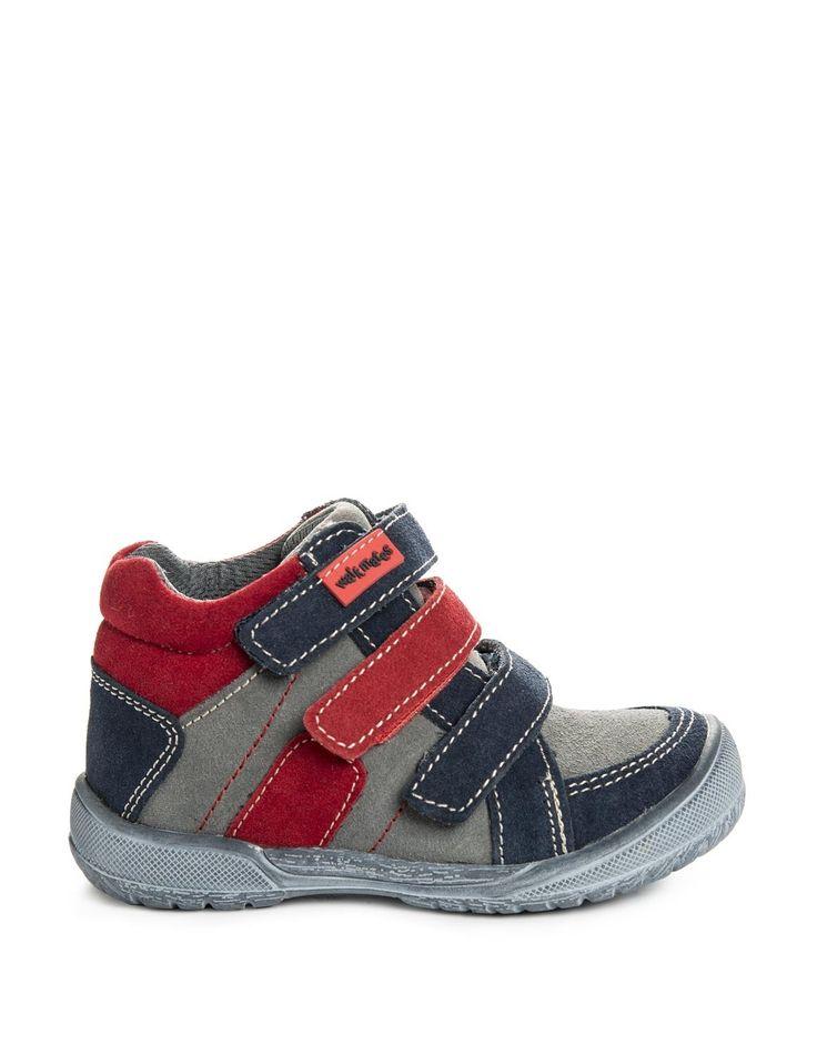 Triple Strap Suede Sneakers