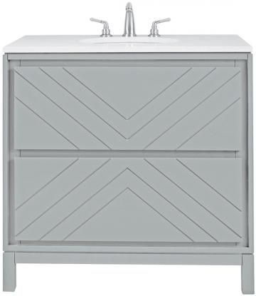 "Clemente 36"" Single Bath Vanity - Single Vanity - Single Bathroom Vanity - Single Sink Vanity - Sink Cabinets 