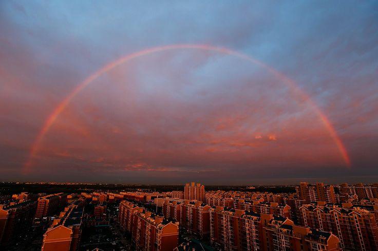 Arcobaleno a Pechino (Getty)
