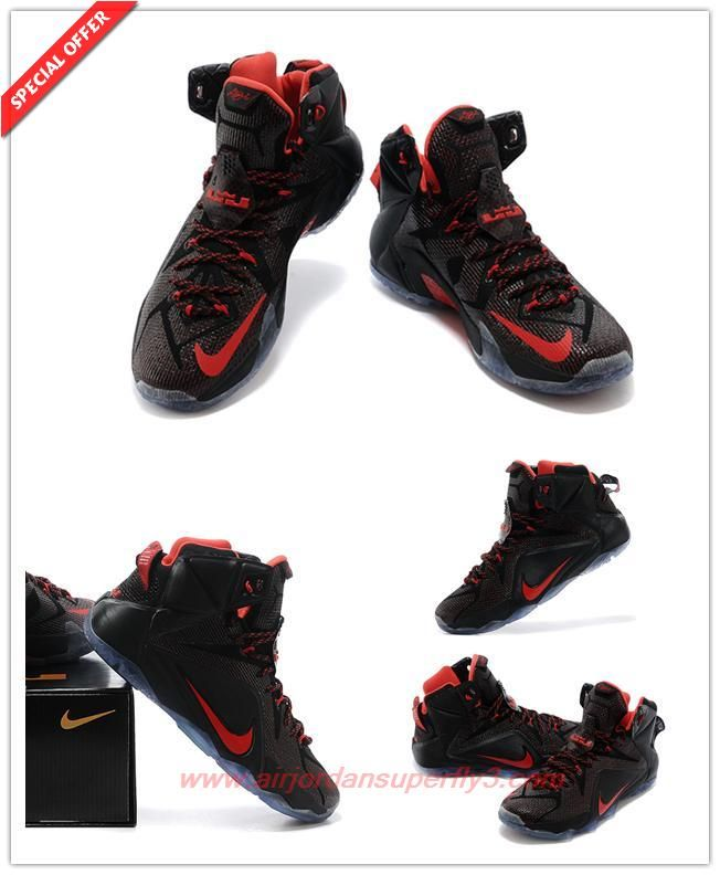 Order Mens Nike LeBron 12 Elite  Black Basketball shoes