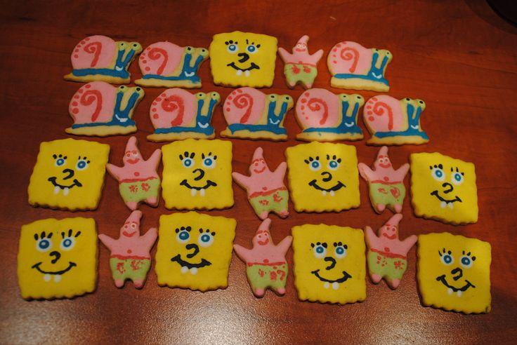 Biscuits with Spongebob Cartoon Characters