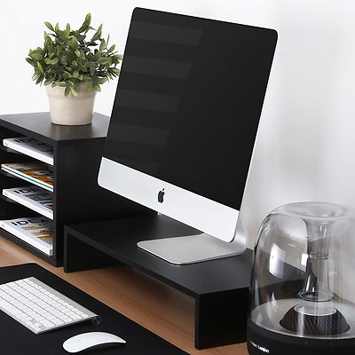 FITUEYES Computer monitor riser 21.3 inch Monitor Stand with keyboard Storage Sp