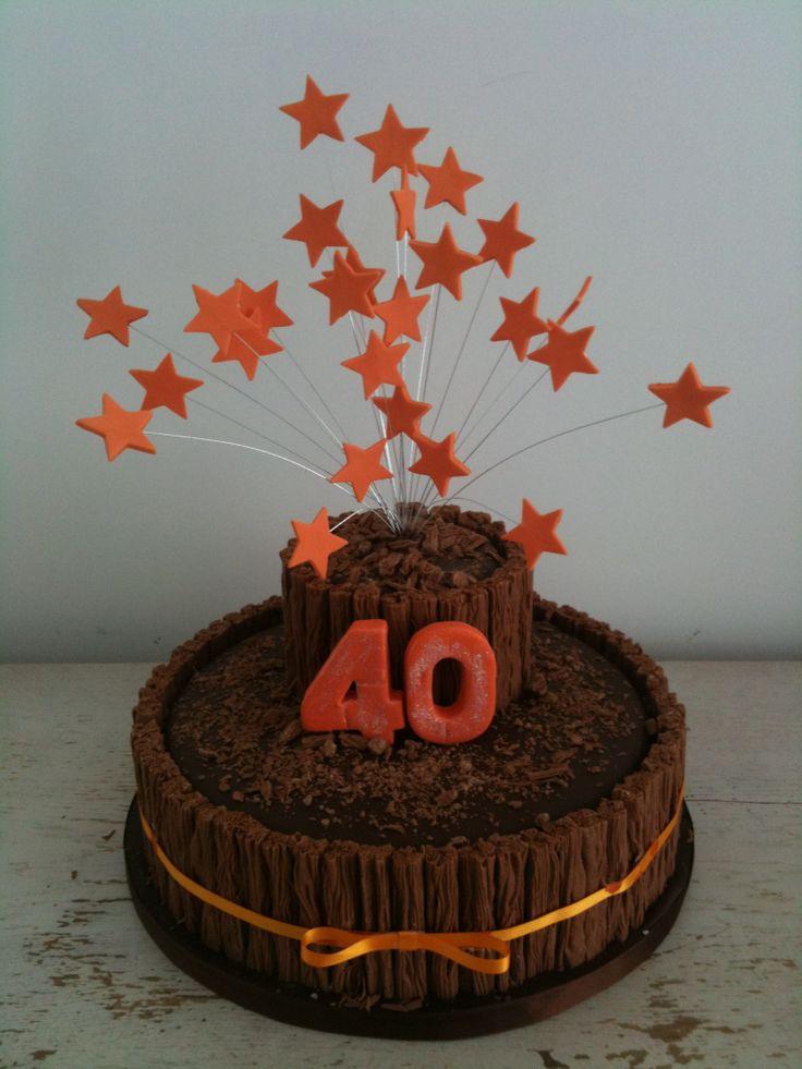 40th Chocolate Flake Cake Cakes Baking And Decorating