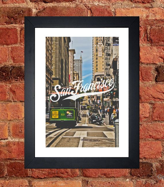 San Franscisco Cable Car Print - Digital download.