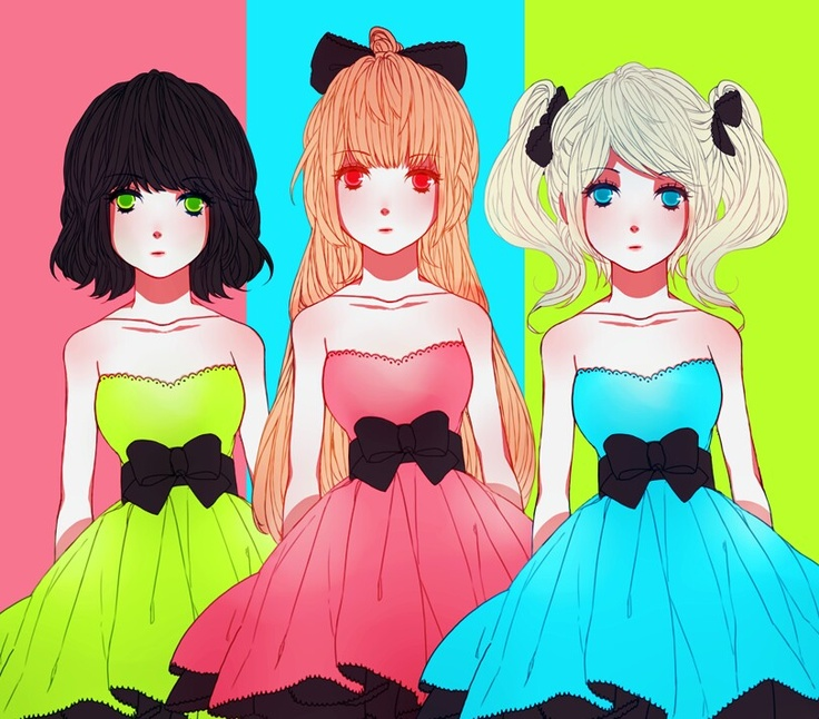 PPG (Power Puff Girls) with Blossom Bubbles and Buttercup