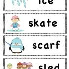 FREE Winter words perfect for the pocket chart, word wall or writing center.  Includes twelve words. Check out my store for more FREE words.  Please con...