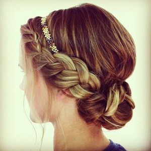 Braided up do with head band