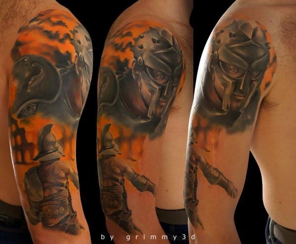 maximus the gladiator tattoo gladiator tattoo love it pinterest gladiadores y. Black Bedroom Furniture Sets. Home Design Ideas