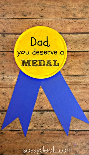 Gold Metal Father's Day Gift for Kids to Make - Sassy Dealz