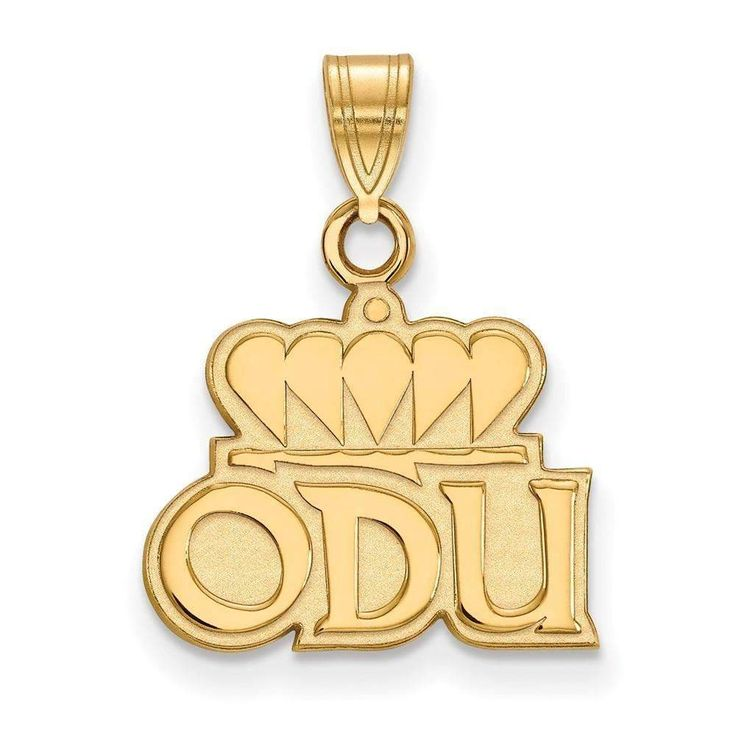Sterling Silver w/GP LogoArt Old Dominion University Small Pendant