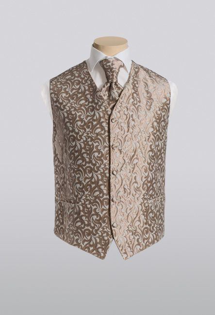 Элегантный мужской жилет с пластроном | Elegant men's waistcoat with plastron
