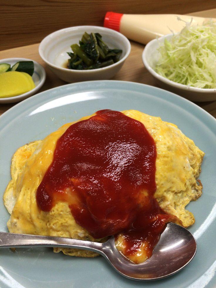 オムライスの聖地昭和を超越した昭和のオムレツライスに感動 / 中華食堂七面鳥