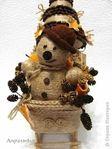 Мобильный LiveInternet Новогодняя композиция из джута и кофейных зерен. Снеговик, елочка и санки | Марриэтта - Вдохновлялочка  Марриэтты |