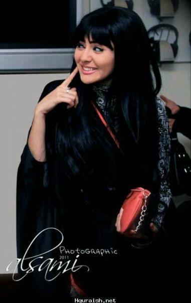 الفنانه مريم حسين تتألق في أحدى تصاميم روج كوتور المبتكره   The actress Mariam Hussain looking glamorous in her Rouge Couture Abaya