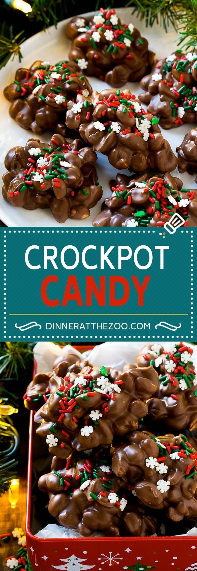 Crockpot Candy   Slow Cooker Candy   Crockpot Peanut Clusters   Chocolate Peanut Clusters